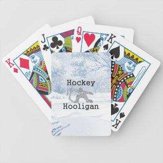 TOP Hockey Hooligan Bicycle Playing Cards