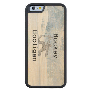TOP Hockey Hooligan Carved Maple iPhone 6 Bumper Case