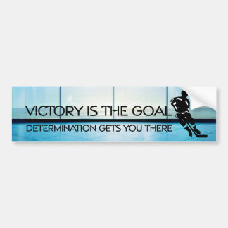 TOP Hockey Victory Slogan Bumper Sticker