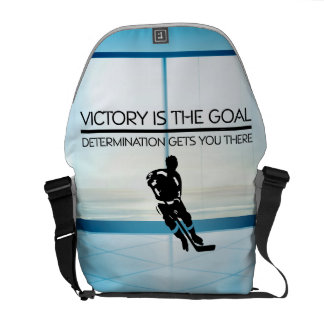 TOP Hockey Victory Slogan Messenger Bag