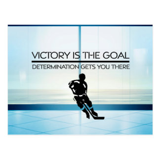 TOP Hockey Victory Slogan Postcard
