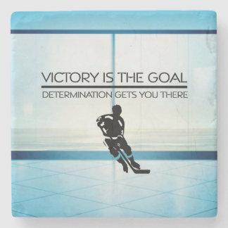 TOP Hockey Victory Slogan Stone Coaster