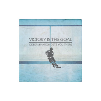 TOP Hockey Victory Slogan Stone Magnet