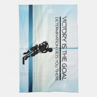 TOP Hockey Victory Slogan Tea Towel