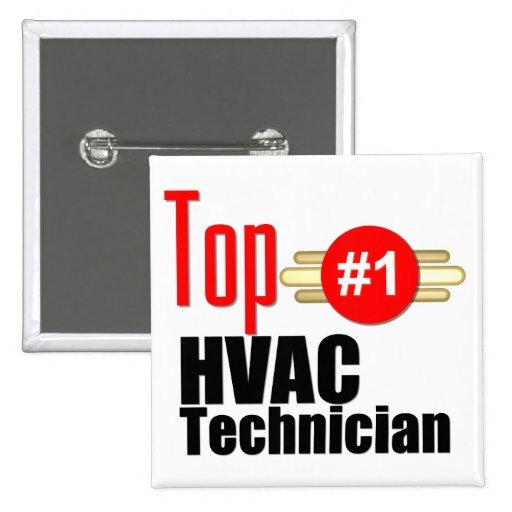 Top HVAC Technician Pinback Buttons