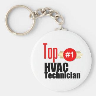 Top HVAC Technician Basic Round Button Key Ring