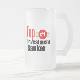 Top Investment Banker Frosted Glass Beer Mug