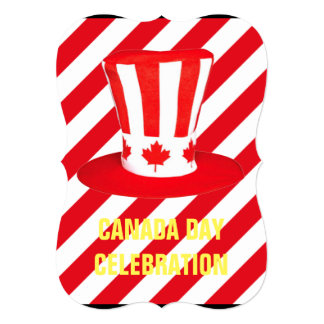 Top It Off Canada Day Party Invitation