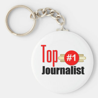 Top Journalist Basic Round Button Key Ring