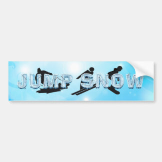 TOP Jump Snow Bumper Sticker