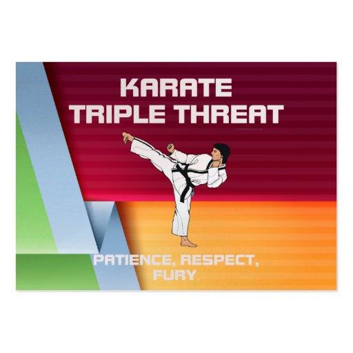 TOP Karate Slogan Business Card