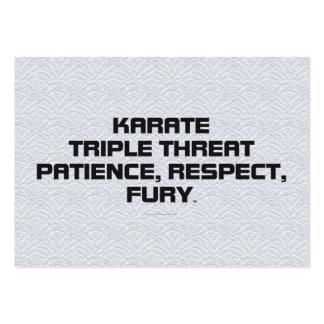TOP Karate Slogan Business Card Template