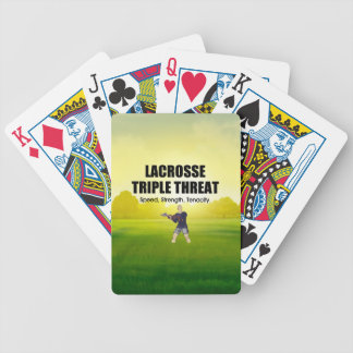 TOP Lacrosse Triple Threat Bicycle Playing Cards