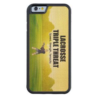 TOP Lacrosse Triple Threat Maple iPhone 6 Bumper Case