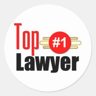 TOP Lawyer Round Sticker