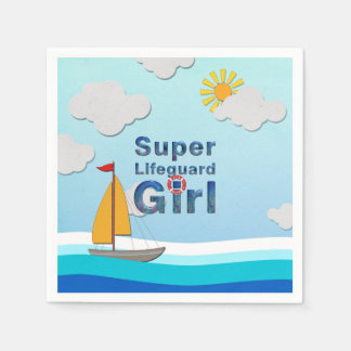 TOP Lifeguard Girl Paper Serviettes
