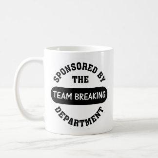 Top management works hard to break employee spirit basic white mug