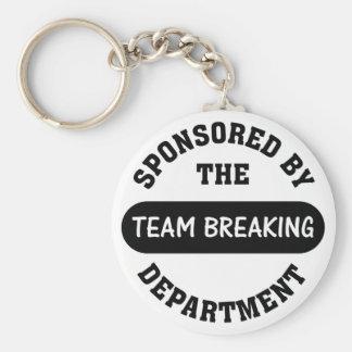 Top management works hard to break employee spirit basic round button key ring