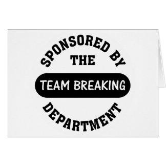 Top management works hard to break employee spirit note card