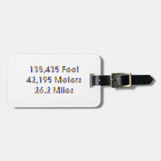 TOP Marathon Numbers Luggage Tag