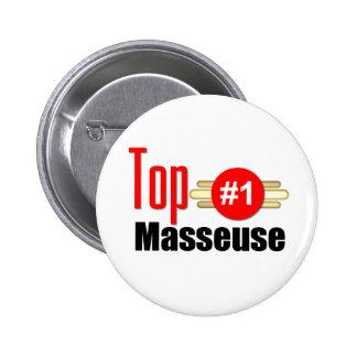 Top Masseuse Pinback Buttons