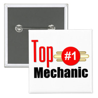 Top Mechanic Pinback Button