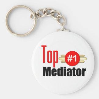 Top Mediator Basic Round Button Key Ring