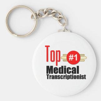 Top Medical Transcriptionist Key Ring