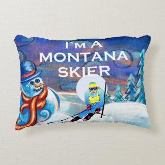 TOP Montana Skier Decorative Cushion