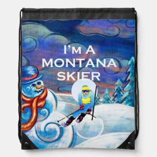 TOP Montana Skier Drawstring Bag