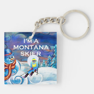 TOP Montana Skier Key Ring