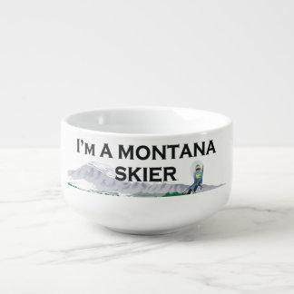 TOP Montana Skier Soup Mug