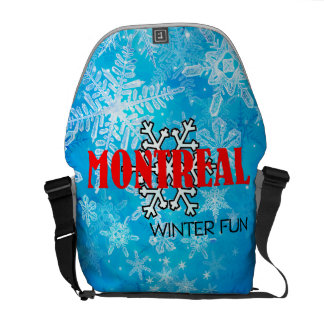 TOP Montreal Winter Fun Courier Bags