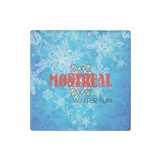 TOP Montreal Winter Fun Stone Magnet