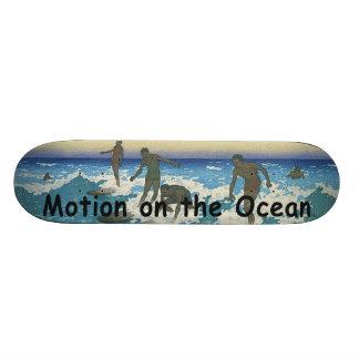 TOP Motion on the Ocean Skate Board Deck