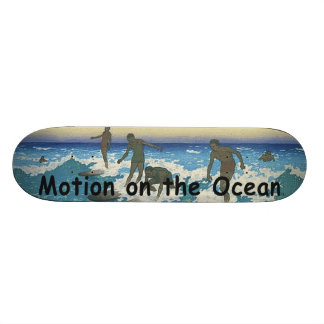 TOP Motion on the Ocean Skate Board Deck