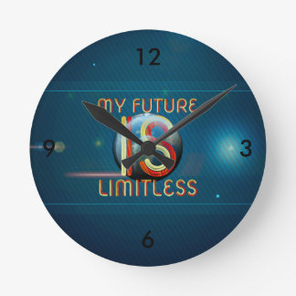TOP My Future Is Limitless Round Clock