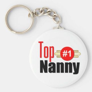 Top Nanny Basic Round Button Key Ring