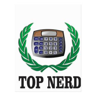 top nerd award postcard