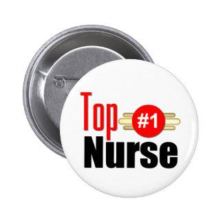 Top Nurse Pinback Button