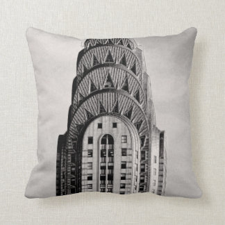Top of the Chrysler Building NYC - B&W Cushion