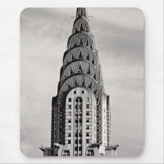 Top of the Chrysler Building NYC - B&W Mouse Pad