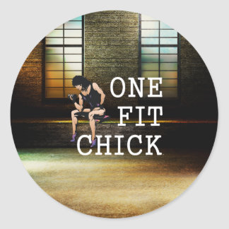 TOP One Fit Chick Classic Round Sticker