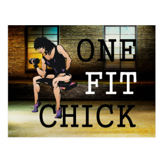 TOP One Fit Chick Postcard