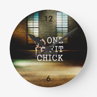 TOP One Fit Chick Round Clock