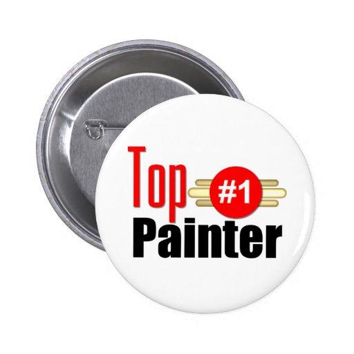 Top Painter Pinback Button