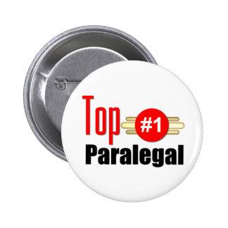 Top Paralegal Pinback Buttons