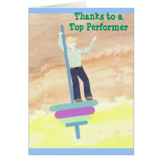 Top Performer  Note Card