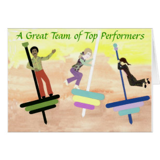 Top Performing Team Notecard Note Card