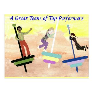 Top Performing Team Postcard